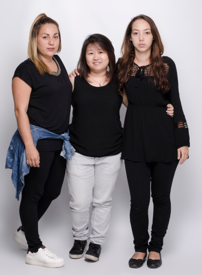 Estudiantes Wendy Solano, Jing Yi Cen e Ingrid Alvarado - Fotograf°a por Alonso Alfaro - Universidad Creativa